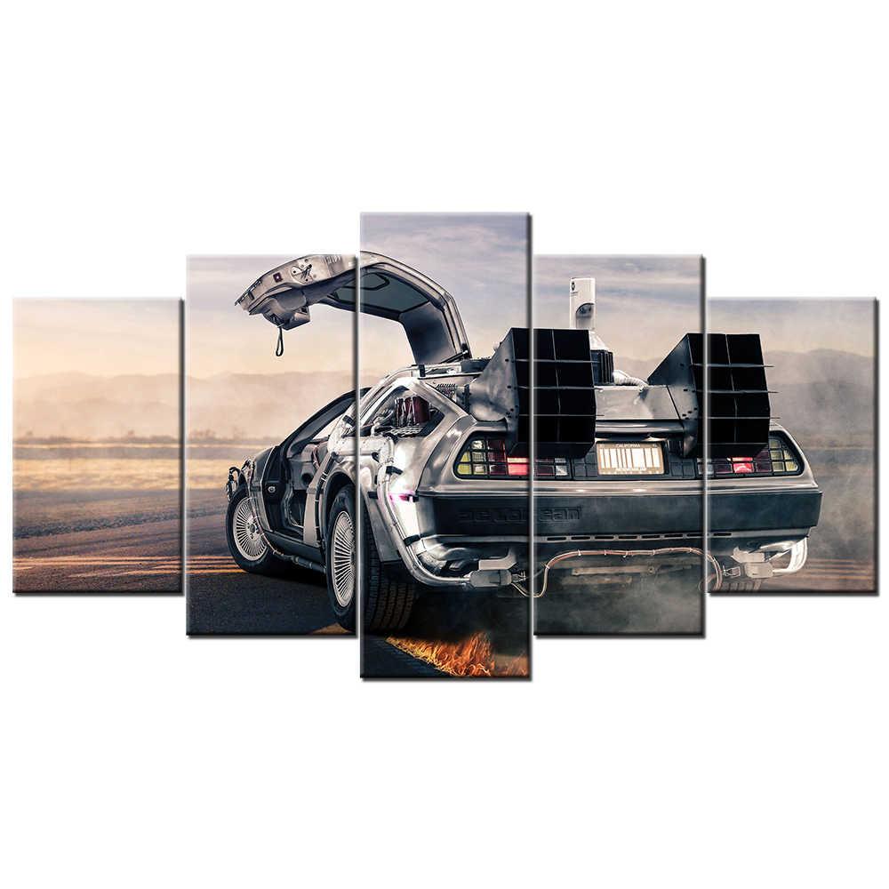 Art print POSTER CANVAS DeLorean Sports Car at Sales Office Lot