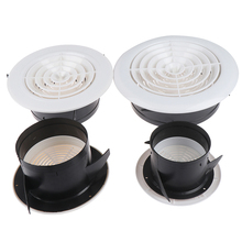 Grilles Grid Air Vent Round Louver Grille Cover 75mm 100mm 3~8 ''Adjustable Ventilation
