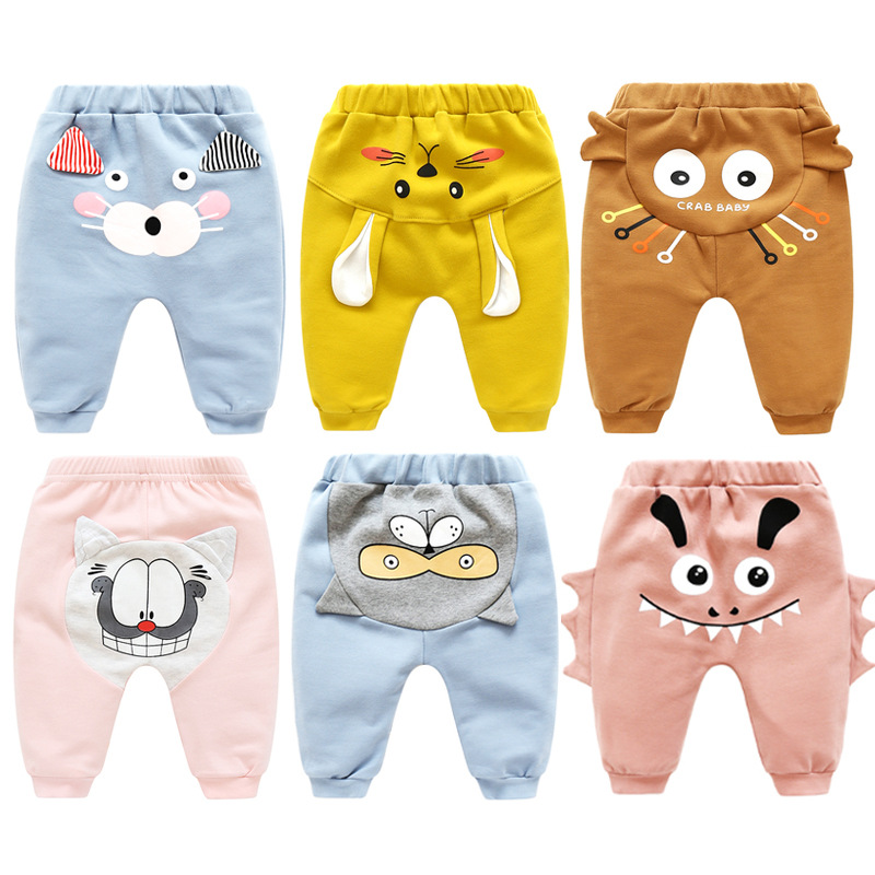 Brand Designer Spring Autumn  Baby Girl Legging Baby Boy Trousers Baby Kids Warm Cartoon Pants