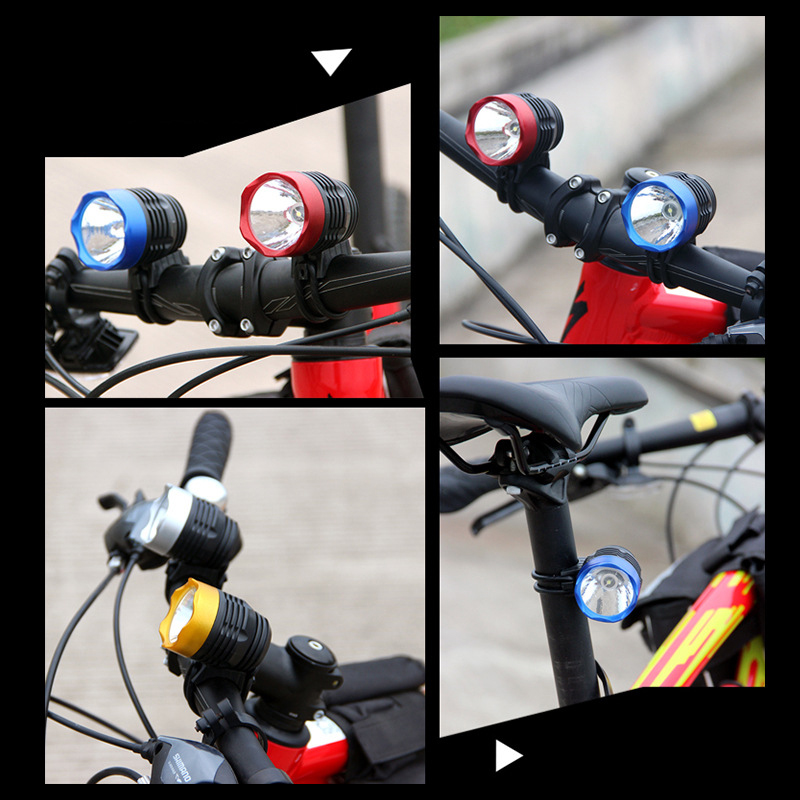 4 colors 3000 Lumen XML Q5 Interface LED Bicycle light Bike Light Headlamp Headlight 3Mode Bicycle lights lamp outdoor cycling