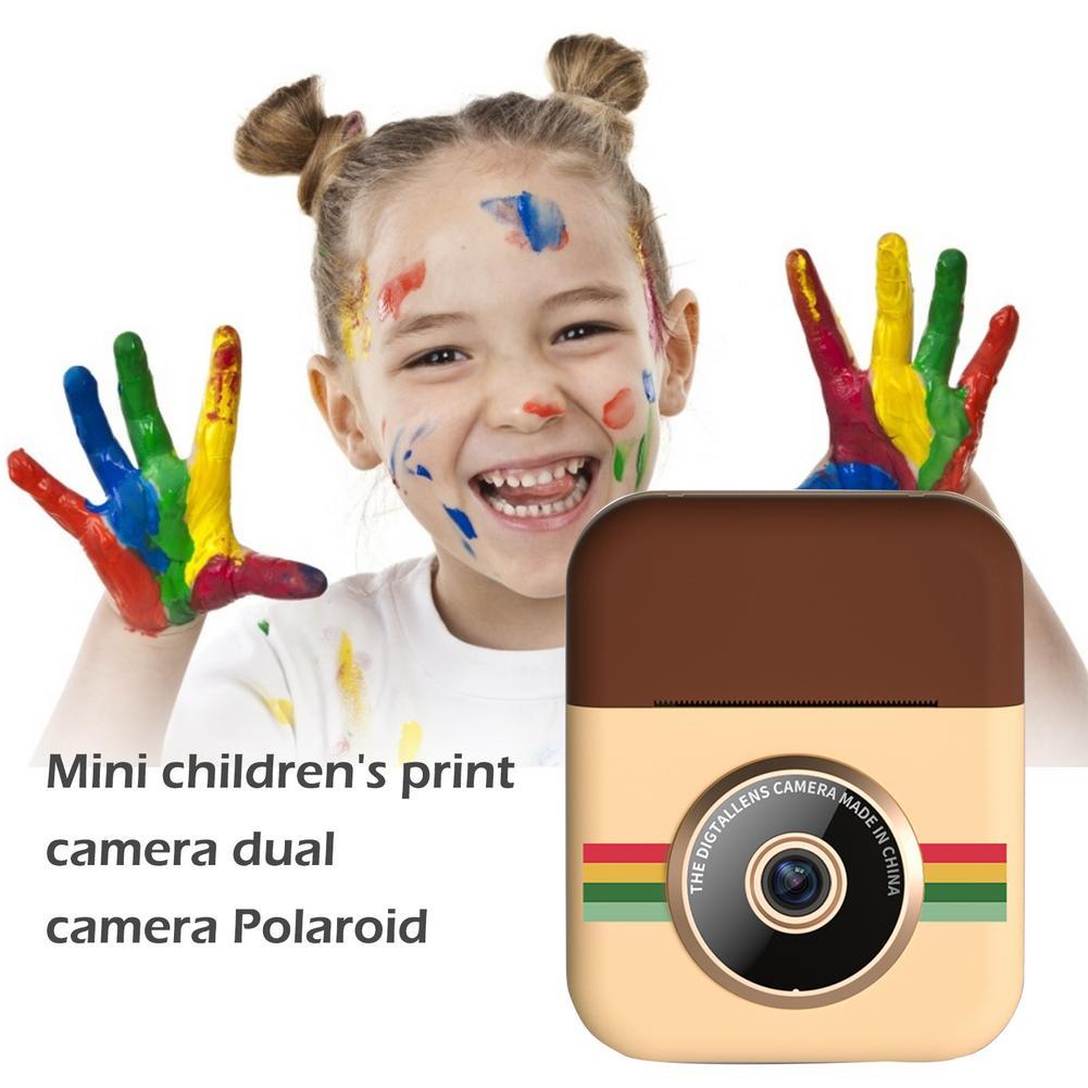 Mini Children's Print Camera Dual-camera  HD Pixels Can Take Pictures And Video Cartoon Creative Digital Toys