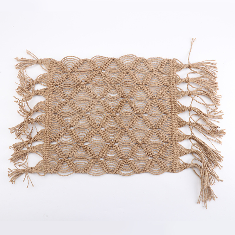 Image 4 - Hand woven Hemp Rope Coaster Home Decoration Window Cushion 