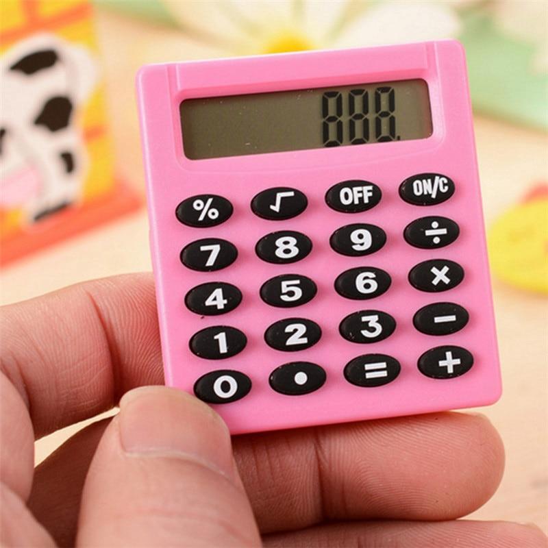 Бутик Канцтовары маленький квадратный калькулятор персонализированный мини конфетный цвет школа и Офис Электроника Творческий калькулят...