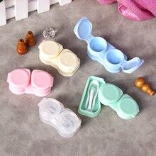 Abrazaderas de prensa de macarrones para mujer, nuevo estilo, incluye pinzas, conjunto de succión, caja de lentes de contacto portátil, estuche para lentes de contacto de viaje