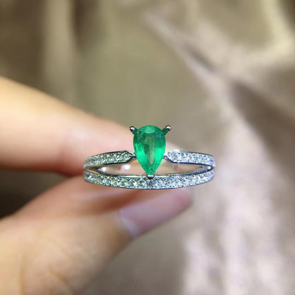 Natural emerald ring, classic style, best selling, good quality gemstone, 925silver, natural colored gemstone monopoly