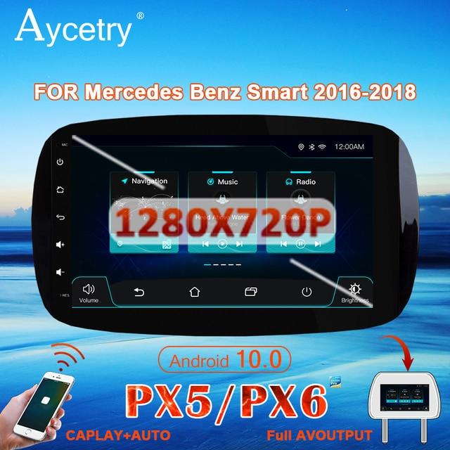 PX6 Autoradio 1 Din Android 10 Multimedia Speler Dvd Gps Autoradio Voor Mercedes/Benz Smart Fortwo 2015 2018 Audio Navigatie Gps