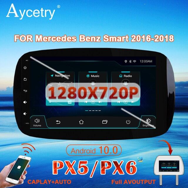 PX6 Phát Thanh Xe Hơi 1 Din Android 10 Đa Phương Tiện Dvd GPS Autoradio Cho Xe Mercedes/Benz Smart Fortwo 2015 âm Thanh 2018 Dẫn Đường GPS