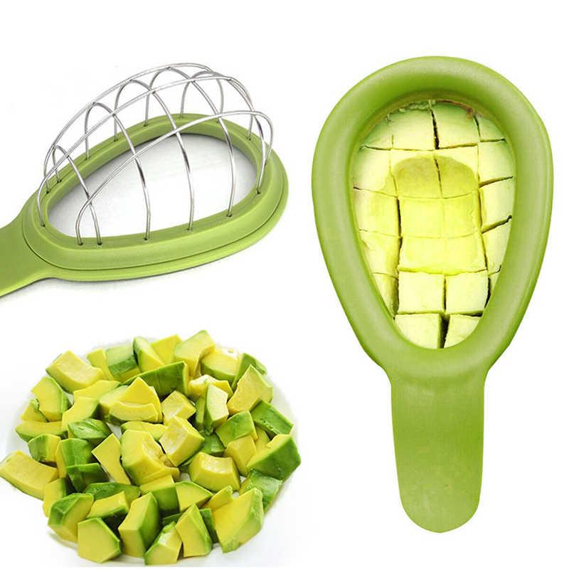Rebanadora de aguacate multifunción Corer manteca de karité cortador de aguacate separador de plástico pasta vegetales cocina cuchillo rebanador melón hogar