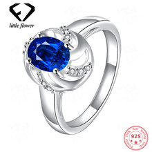 925 Sterling Silver Sapphire Diamond Rings for Women Jewelry anillos Bizuteria ruby topaz Engagement Ring Gemstone