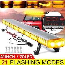 """41 """"210W LED 12V 24V משאית לרכב Strobe אור אור בר Led בר מגדלור מהבהב אור גג חירום אזהרת מנורות 21 מצבים"""