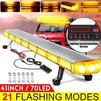 41 210W LED 12V 24V Truck Car Strobe Light Light Bar Led Bar Flashing Beacon Light Roof Emergency Warning Lamps 21 Modes