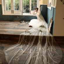 Wedding-Veil Long Comb Lace Sequined One-Layer Luxury with Stunning New-Arrive