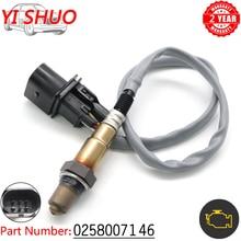 Relação de combustível do ar do carro lambda o2 oxigênio sensor 0258007146 para bmw 120i 320i 320si 745 i, li rolls royce phantom 2001 2016