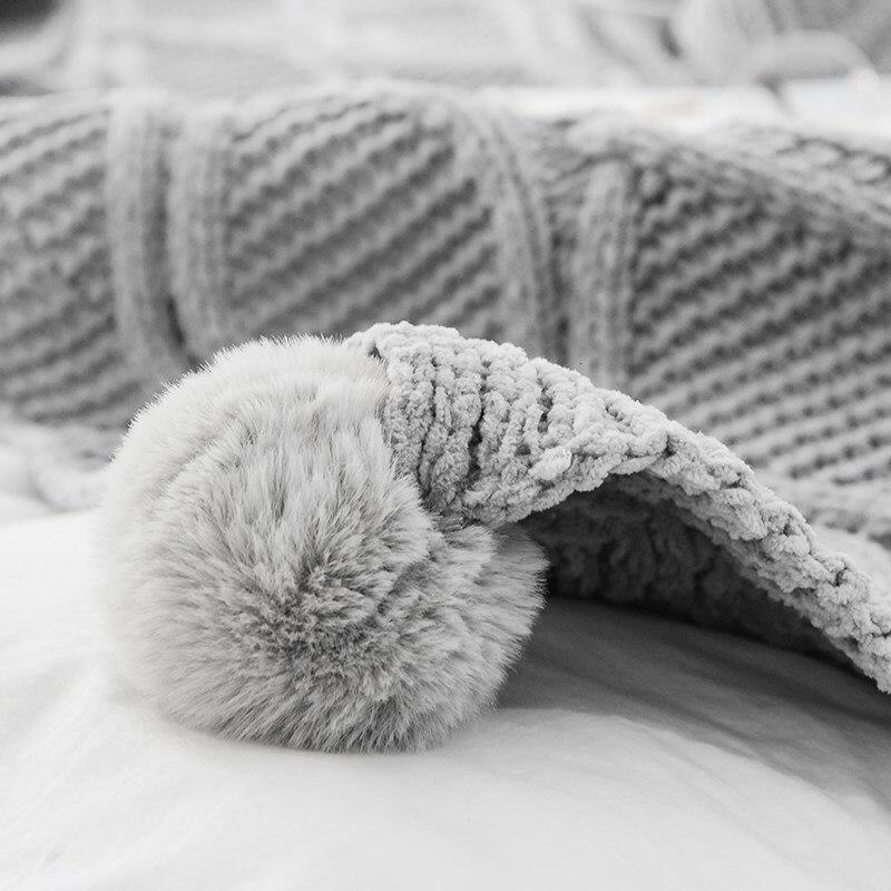 2019 algodón para chico recién nacido cómoda cobija invierno suave mantener caliente sofá/Manta para bebé niña Cobija para baño de franela - 3
