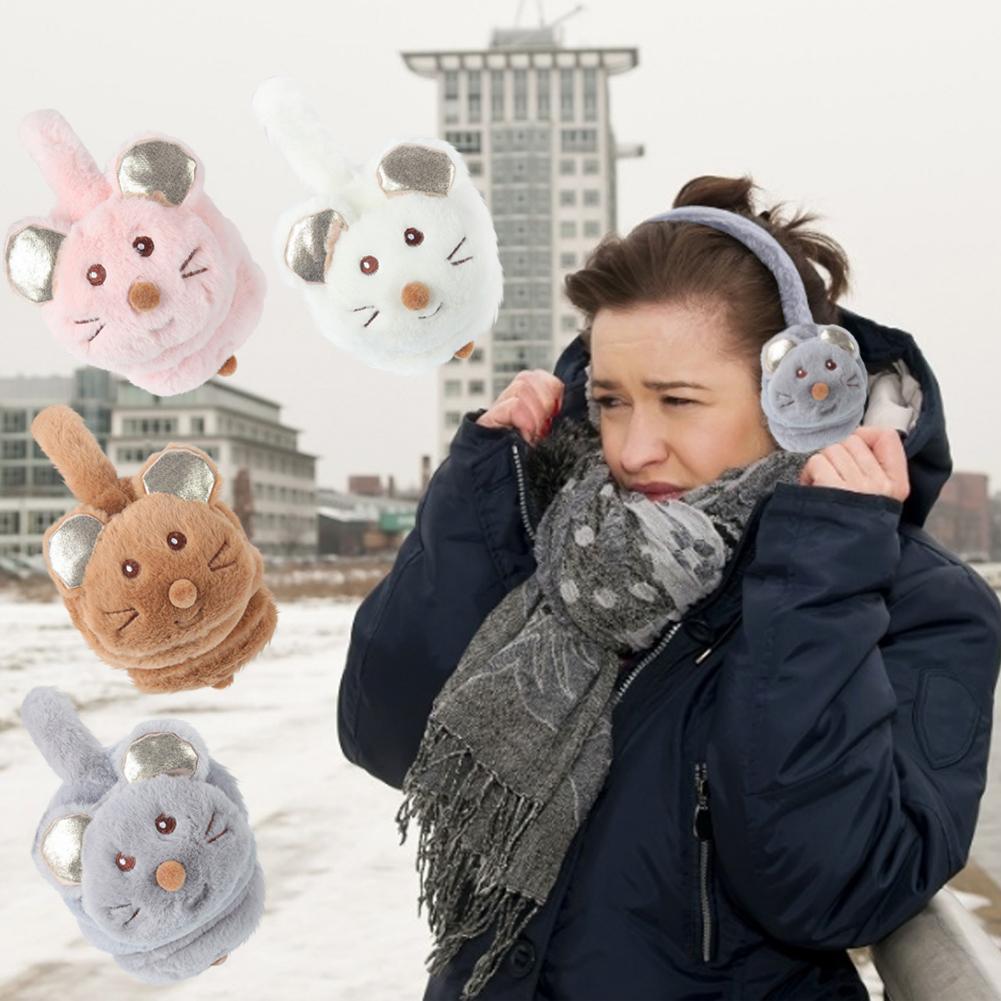 Cute Earmuffs Soft Plush Ear Warmer Adjustable Earmuffs Winter Accessory Outdoor For Boys Girls Cute Ear Warmer Soft Cover