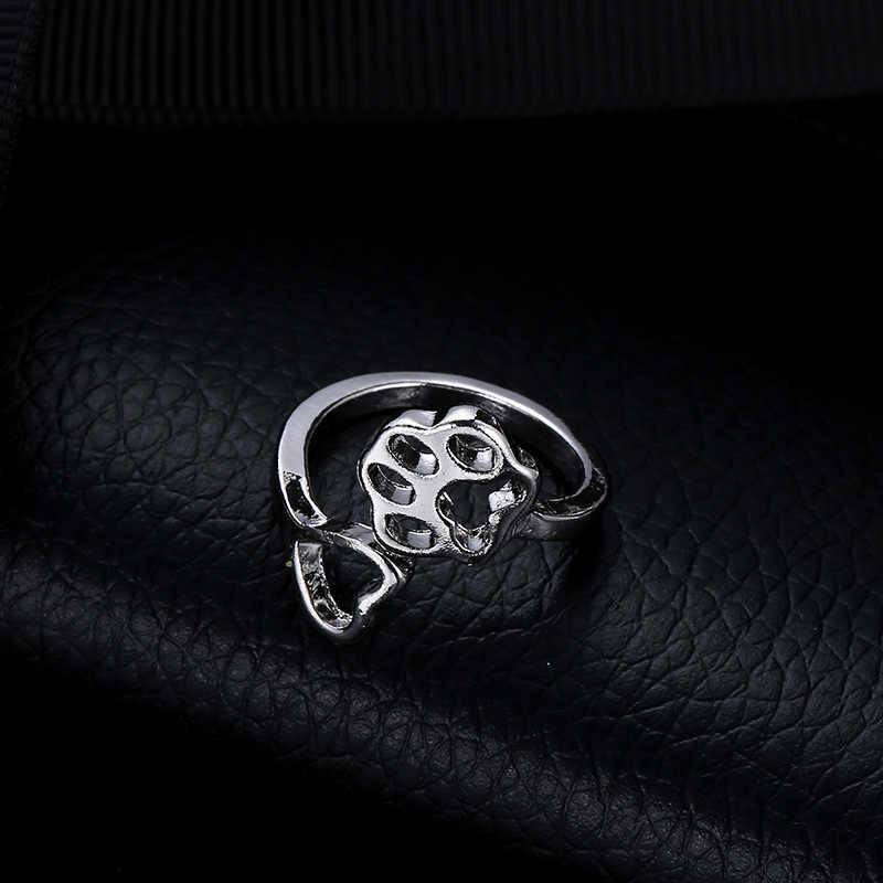 Креативный полый Love Dog кольцо с когтями женское эффектное регулируемое Открытое кольцо для женщин модные Свадебные обручальные кольца ювелирные изделия