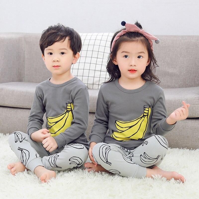 Baby Pajamas Kids Winter Cotton Long Sleeve Boys Girls Clothing Sets Children Cartoon Sleepwear Kids Pyjamas Enfant Child Pyjama