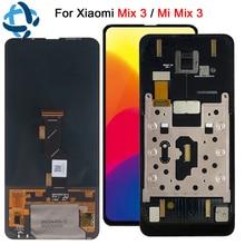 Süper Amoled Xiao mi mi mi x 3 lcd ekran dokunmatik ekranlı sayısallaştırıcı grup çerçeve ile mi mi x3 yedek mi mi x3 mi mi x 3 lcd
