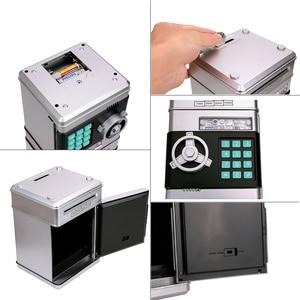 Image 5 - Anpro كلمة السر الإلكترونية حصالة على شكل حيوان ATM حصالة النقود عملة التلقائي إيداع الأوراق النقدية آلة توفير المال ATM البنك صندوق الأمان