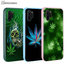 Seni Tinggi Gulma BASEUS Permen Warna PENUTUP UNTUK Samsung GALAXY Catatan 10 9 8 S11 S10 S9 S8 S7 PLUS edge Phone Case(China)