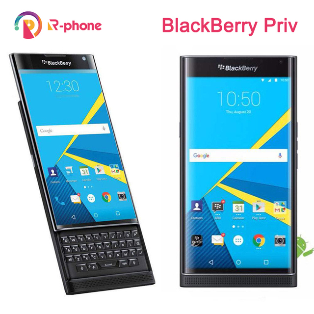 Unlocked Original BlackBerry Priv 5.4 Cellphone Android OS 3GB RAM 32GB ROM 18MP Refurbished Cellphone