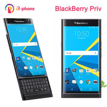 Unlocked orijinal BlackBerry Priv 5.4 cep telefonu Android işletim sistemi 3GB RAM 32GB ROM 18MP yenilenmiş cep telefonu