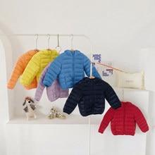 Jaquetas de pouco peso para baixo para meninos meninas jaquetas para baixo para crianças multi-cor quente e impermeável roupas