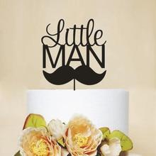 Новое прибытие Мальчик день рождения торт Топпер маленький человек надписи День Рождения украшения Торт аксессуары уникальные подарки на день рождения