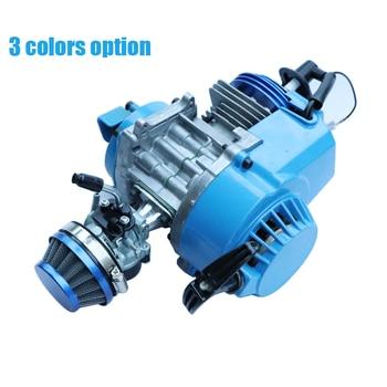 Motocicle Motor completo con filtro de aire de 58mm carburador para bicicleta de 2 tiempos 47cc 49cc Mini Dirt ATV Quad