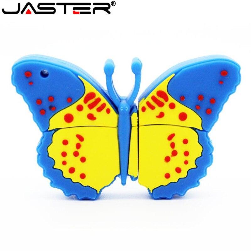 JASTER USB 2.0 Butterfly USB Flash Drive Cartoon Pen Drive Minions Memory Stick Pendrive 4GB 8GB 16GB 32GB 64GB USB Stick Gift