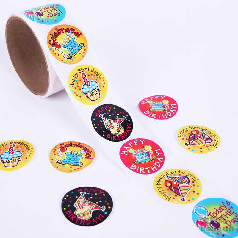 One Roll Creative Adhesive Tape 100pcs Fashion Birthday Party Sticker For Kids Great Gift Colorful Stationery Sticker Toy