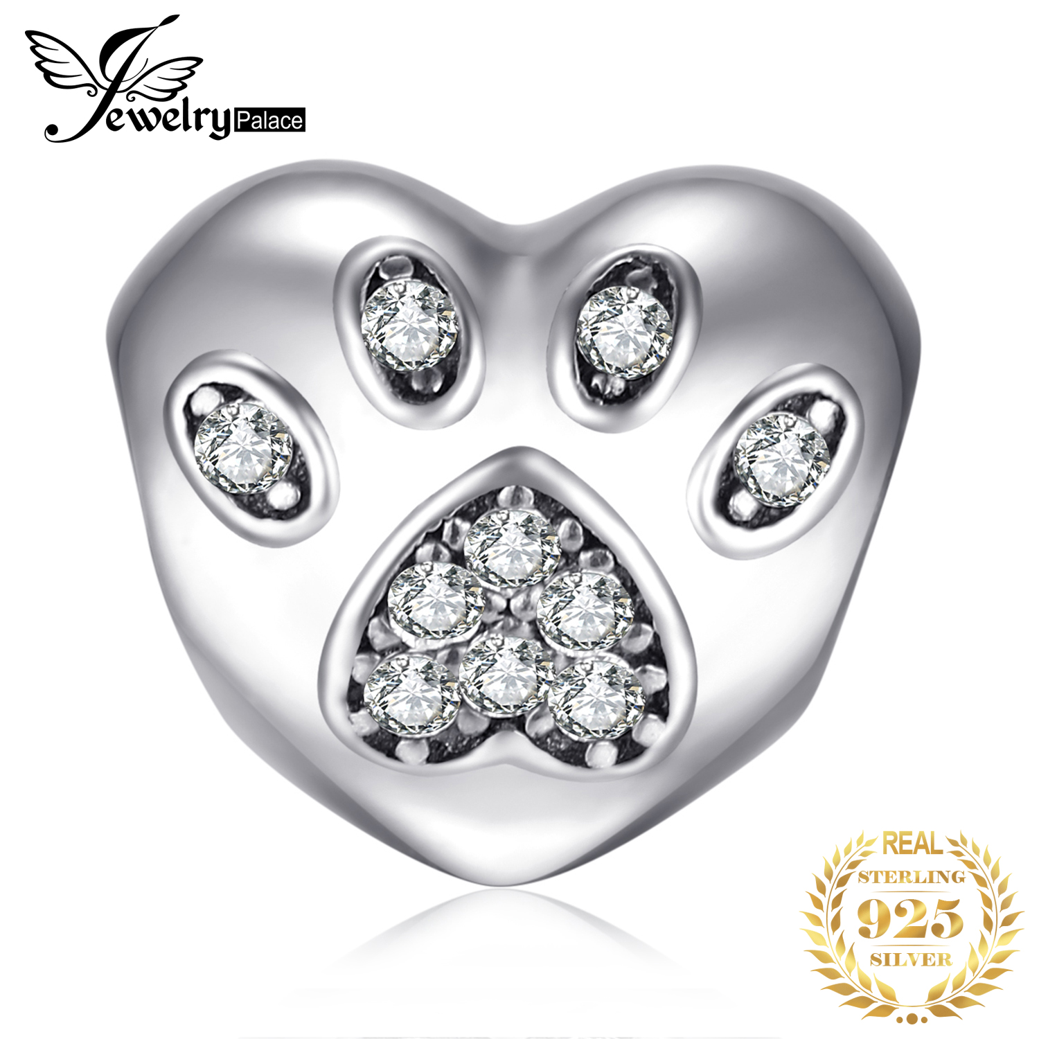 JewelryPalace Puppy Palm 925 Sterling Silver Beads Charms Silver 925 Original For Bracelet Silver 925 original Jewelry Making in Beads from Jewelry Accessories