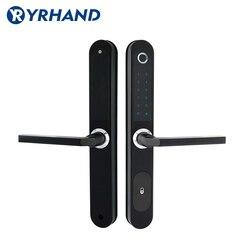 Cerradura electrónica Digital impermeable de la huella Digital para la puerta de cristal de aluminio con Euro mortaja 3585
