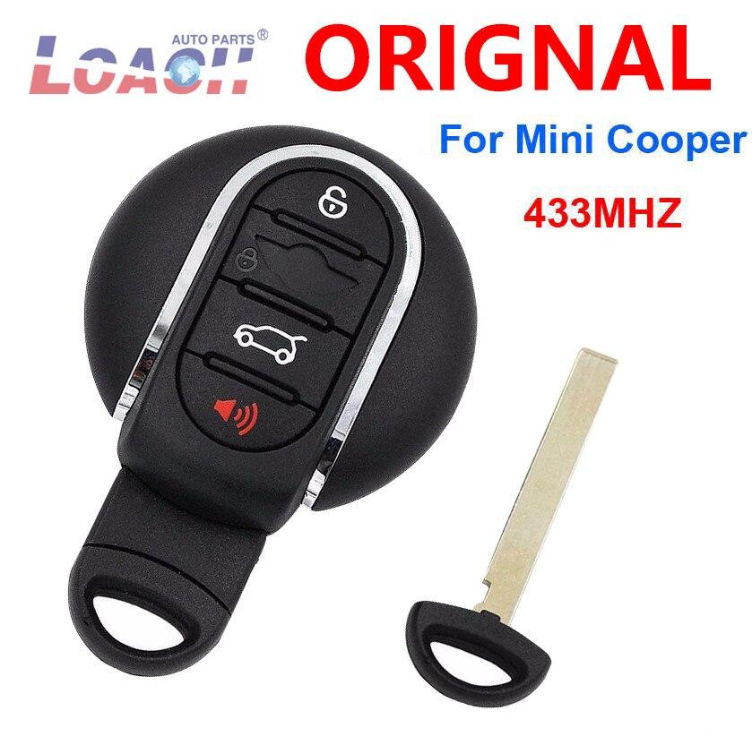 5 pcs/lot 4 bouton 3 bouton télécommande Smart voiture clé 433Mhz pour BMW Mini Cooper 2007-2014 avec Insert clé IDGNG