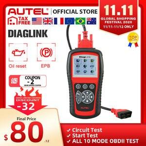 Image 1 - Autel maxidiagエリートMD802 diaglink OBD2スキャナーすべてのシステムカー診断ツールobd 2コードリーダーepbオイルリセットpk MD805 CRP129