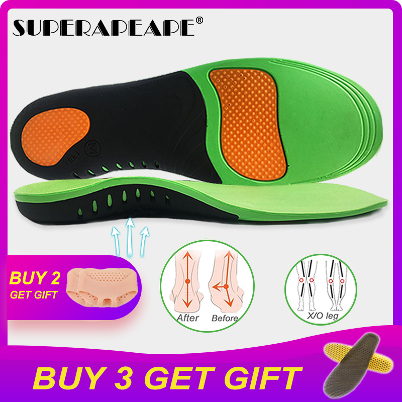 High Quality EVA Orthotic Insole For Flat Feet Arch Support Orthopedic Insole For Men Shoe Pad Shoes Insert  Shoes Sole