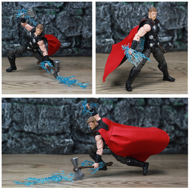 Marvel Legends 6″ Thor Action Figure Avengers Infinity War From TRU 3P One Eyed Crown of Surtur Storm Breake Sword Collectible