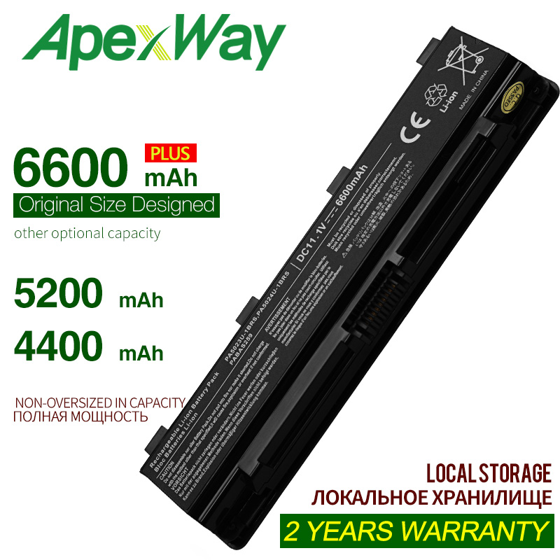ApexWay 11.1V 6 Cells Laptop Battery For Toshib PA5023U-1BRS PA5024U PABAS261 PABAS262 PA5025U PA5026U PABAS259 PABAS260