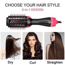 3 в 1 Фен-щетка для волос один шаг для укладки волос фен для объема для салона горячего воздуха щетка для женщин быстрое выпрямление завивка
