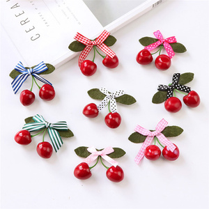 Hair Accessories For Girls Hairclips Kids Infant Girl Hair Clip Lovely Sweet Cartoon Cherry Hairclip Lifelike Delicate Hairpin