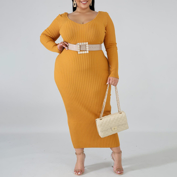 winter long dress sexy v neck long sleeve plus size XL- 3XL 4XL 5XL pullover vestidos women autumn fall casual maxi dress office 2019 new spring v neck short sleeve print yellow pink chiffon dots loose big size xl long maxi split dress women fashion tide