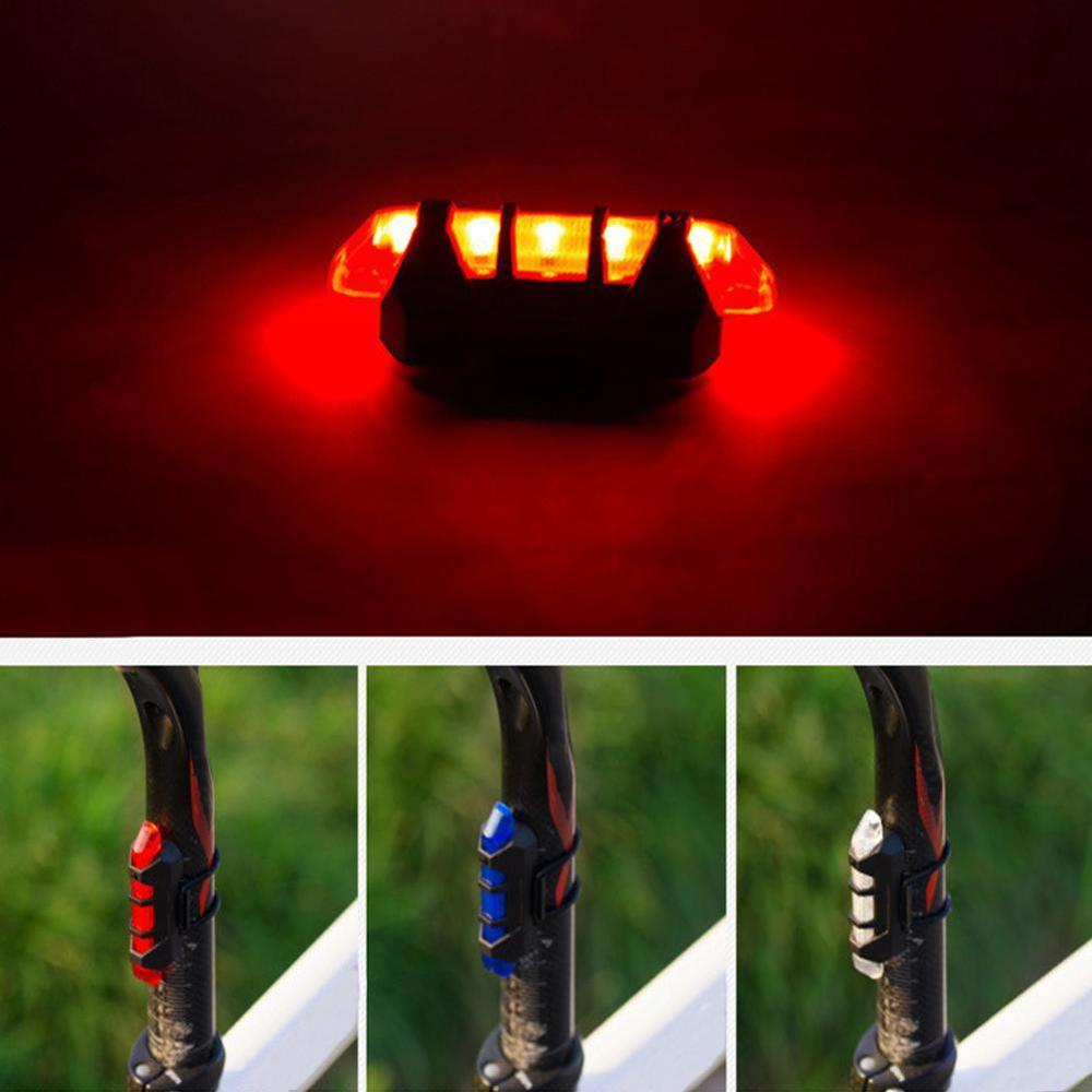 New Bicycle Light Cycling MTB Waterproof Taillight LED USB Rechargeable Mountain Bike Safety Warning