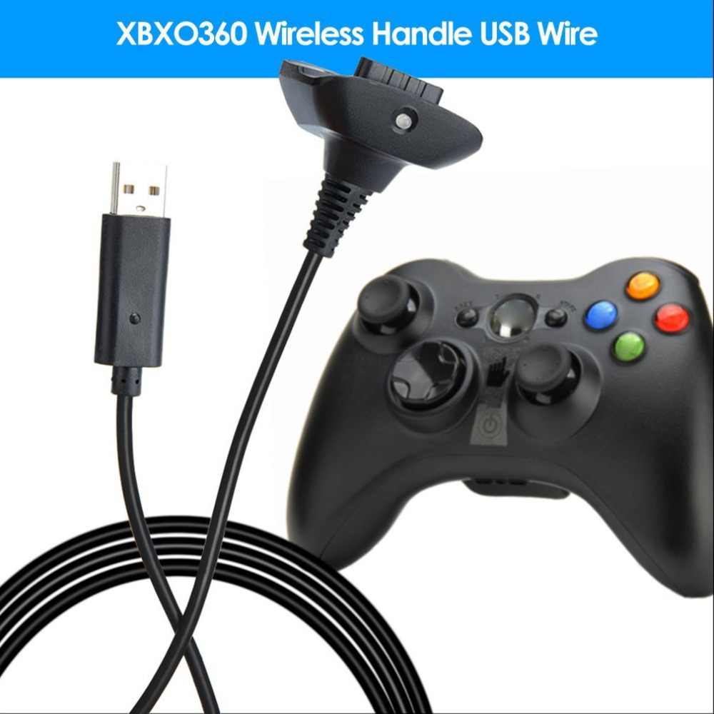 1.5m USB Charging Cable for Xbox 360 Wireless Game Controller Play Charging Charger Cable Cord High Quality Game Accessory New