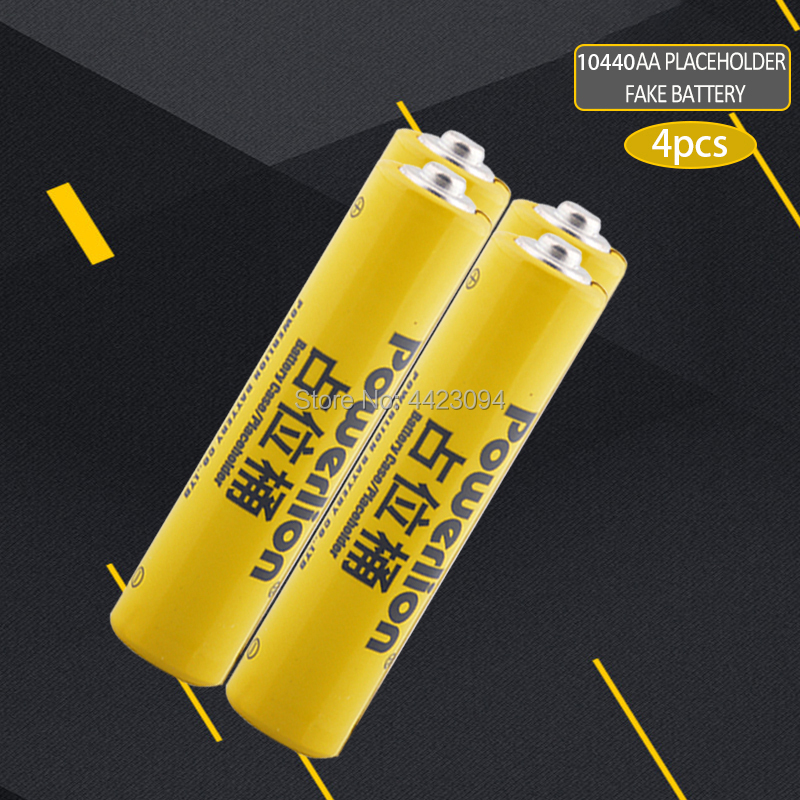 4pcs/lot 10440 li-ion dummy fake battery AAA battery setup dummy cells Placeholder for Lithium iron phosphate battery image