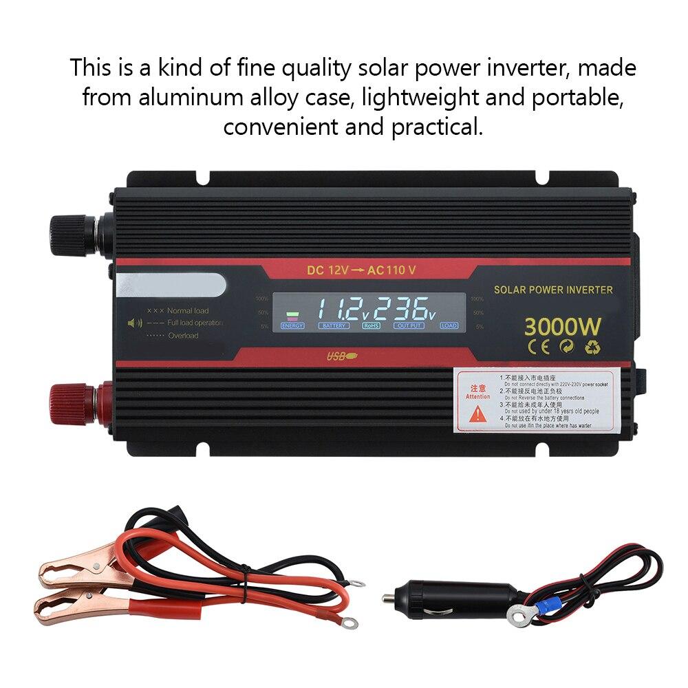 6000W/4000W/3000W Intelligent Solar Power Car Inverter Modified Sinewave Converter with LCD Display 24V/12V 220V/110V Inverters