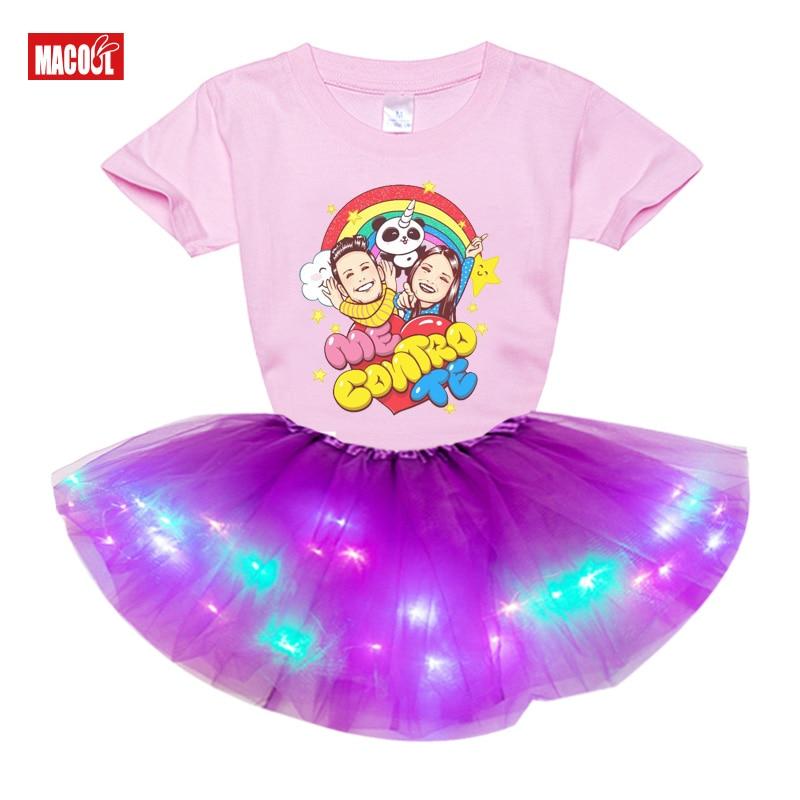Girls Clothing Sets Princess Little Girl Set 2020 Summer Birthday Party Dress 2pc Light Tutu Dress+t Shirt  Costume Me Contro Te