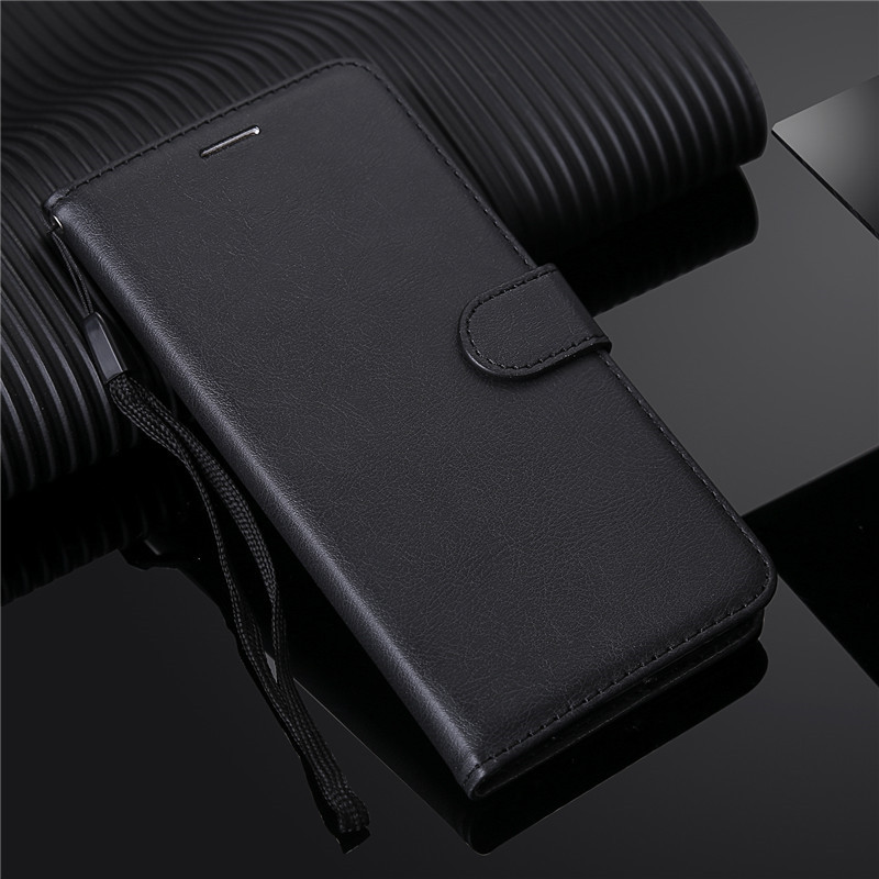 For <font><b>Samsung</b></font> Galaxy S10 S10e S20 S8 <font><b>S9</b></font> Plus Note 8 9 10 5G <font><b>Case</b></font> S6 S7 Edge Soft Silicone Leather <font><b>Flip</b></font> Wallet Cover <font><b>Case</b></font> Lanyard image