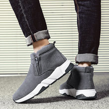 Suede Men Boots Winter Outdoor Snow Boots Non-slip Warm Shoes Men Ankle Boots High Top Boots for Men Sneakers Winter Shoes(China)