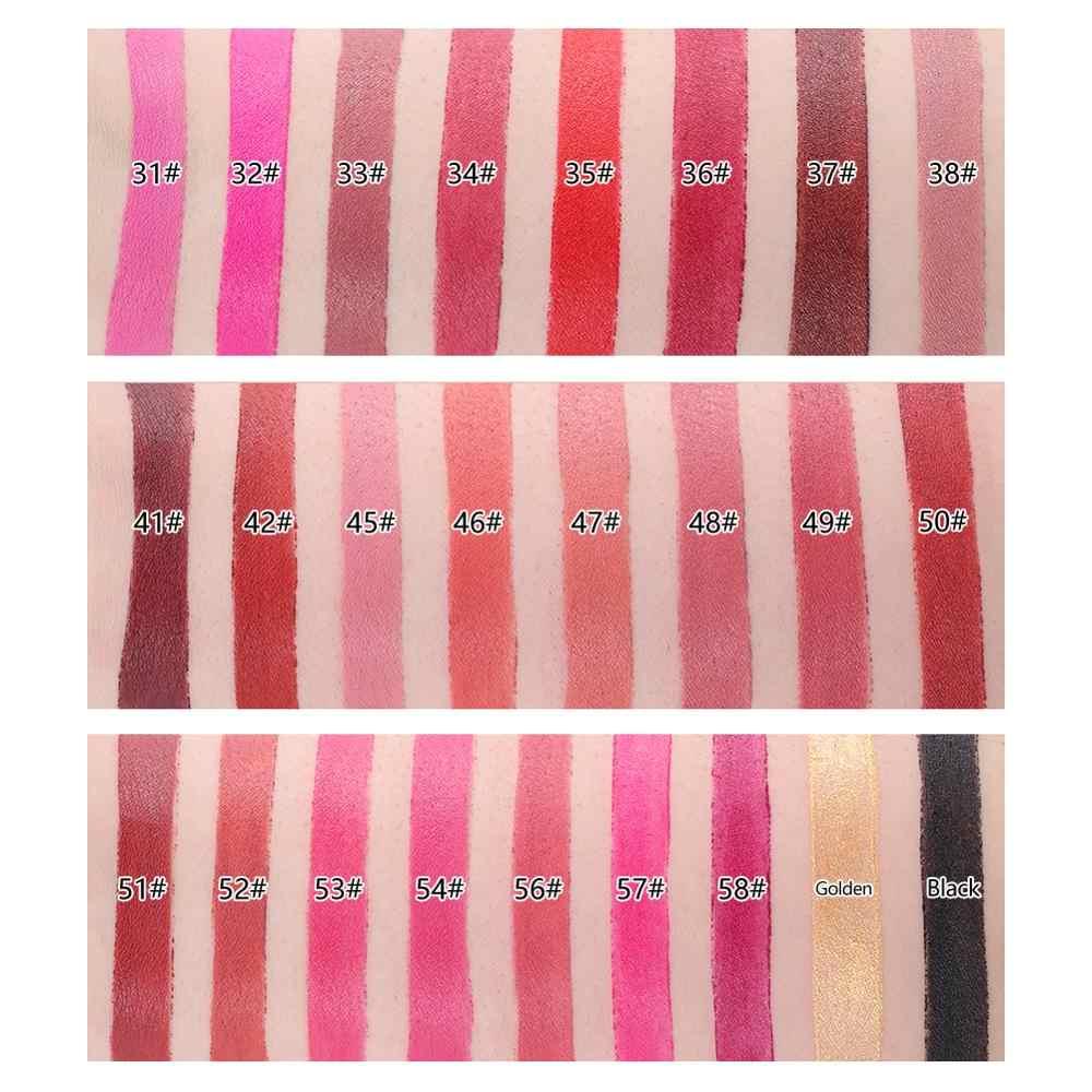 חדש מיס רוז שפתון מט עמיד למים קטיפה שפתיים מקל 18 צבעים סקסי אדום חום פיגמנטים איפור מט שפתונים יופי שפות