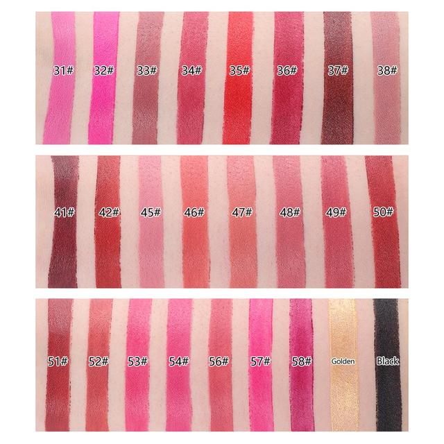 New MISS ROSE Lipstick Matte Waterproof Velvet Lip Stick 18 Colors Sexy Red Brown Pigments Makeup Matte Lipsticks Beauty Lips 5